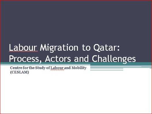 Labour Migration to Qatar