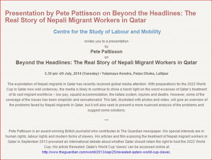 Beyond the Headlines: The Real Story of Nepali Migrant Workers in Qatar